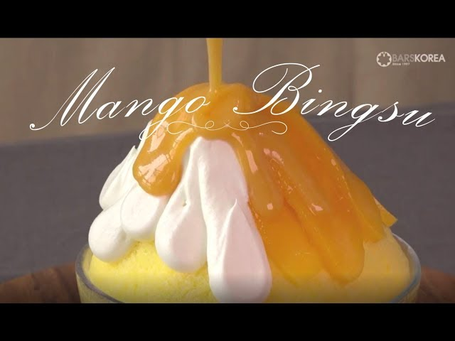 Mango Bingsu [How to make Korean most popular Mango Bingsu]