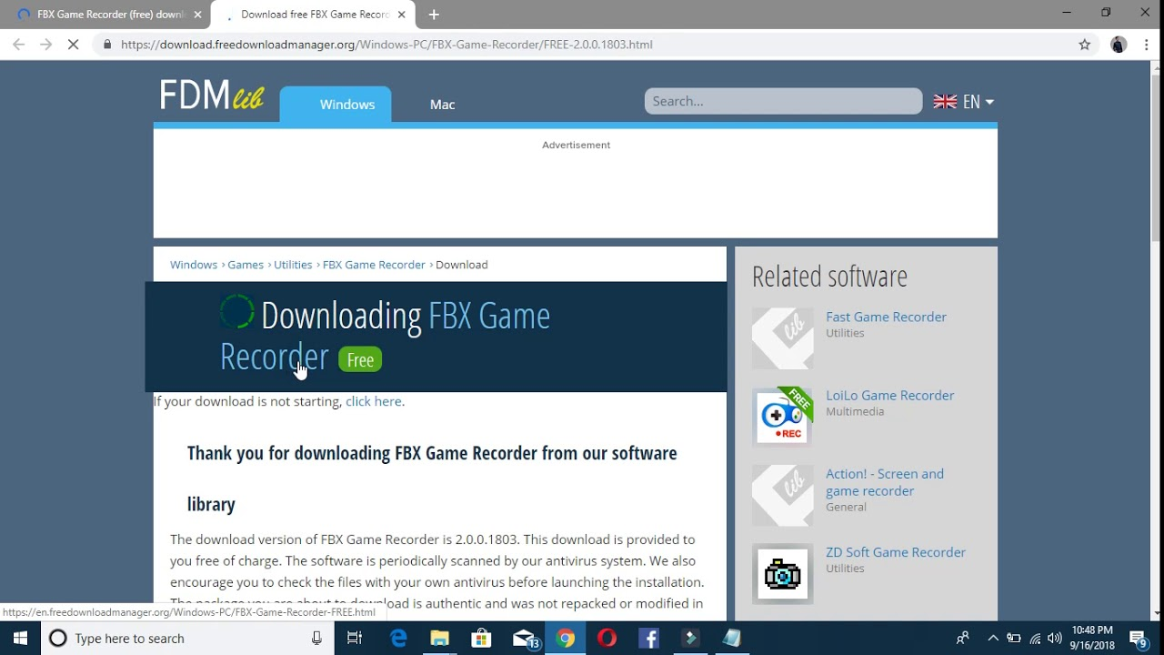 how to download a fbx game recordor in pc