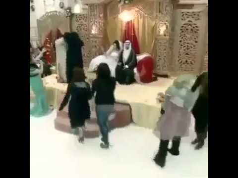 Women fighting on Arab wedding ceremony