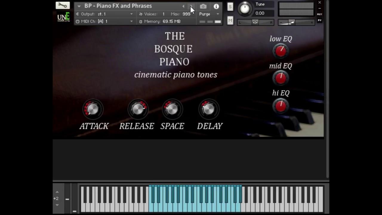 The Bosque Piano Kontakt Library By Rich Douglas