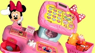 Minnie Mouse Electronic Cash Register TAKARATOMY TOMICA Disney Minnie's BowTique  米妮老鼠玩具
