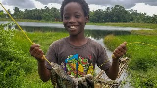 Catch N Cook | tea¢hing my son how to fish his first time