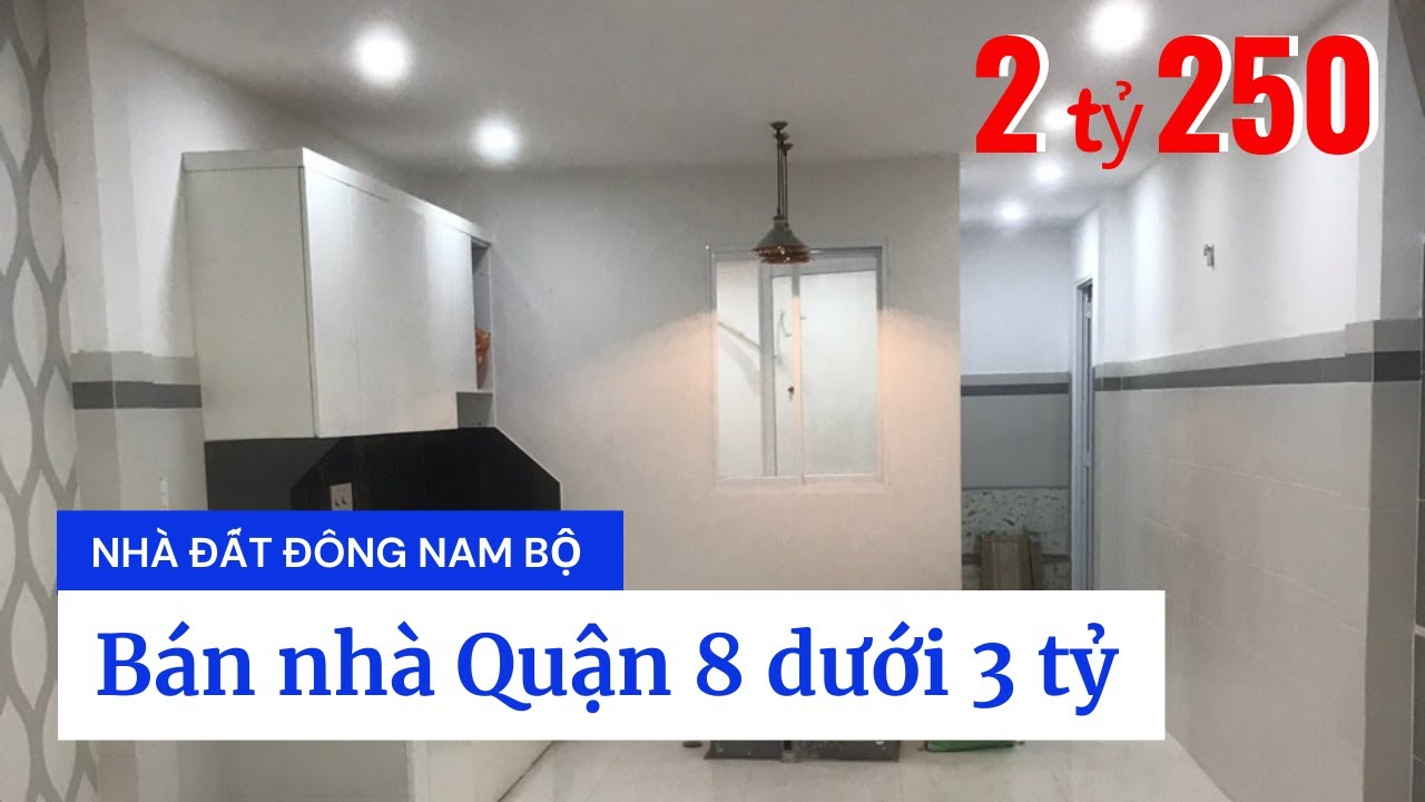 Bán nhà Quận 8 giá rẻ dưới 3 tỷ, ngay chợ Phú Lợi 2, đường Trịnh Quang Nghị