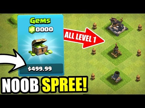 NOOB ACCOUNT SPENDS $499 WORTH OF VALUE PACKS IN CLASH OF CLANS!