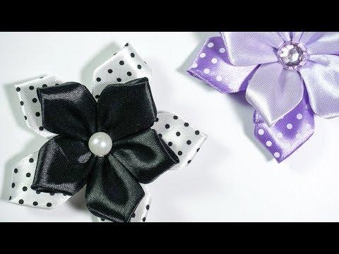 Ribbon Flowers: Ideas for dresses  DIY Tutorial by HandiWorks 119