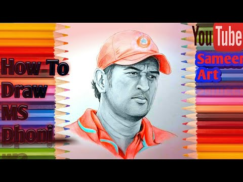 How to draw Dhoni Step by Step sketch tutorial thumbnail