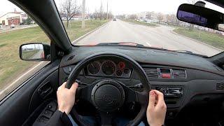 2006 Mitsubishi Lancer Evolution IX 4g63t POV TEST Drive