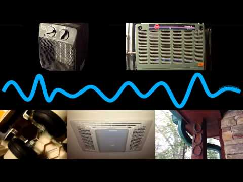 Relaxing Sound Mash-Up of Gas Furnace, Rain, Space Heater, Ceiling Vent, Wave, & Aquarium Pump