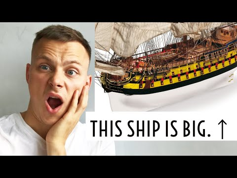 I bought a BIGGEST and most DIFFICULT scale ship model