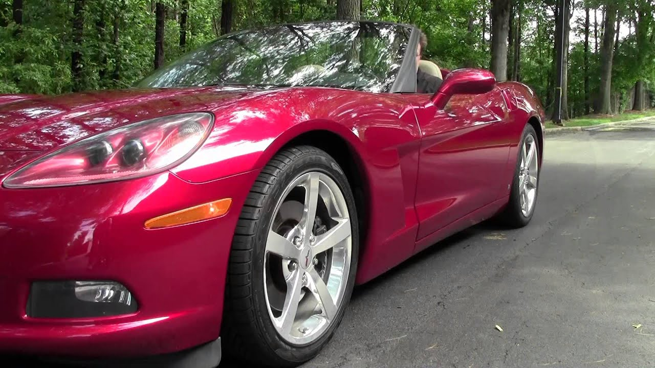 2008 Crystal Red Metallic Chevrolet Corvette Convertible #24083586 ...