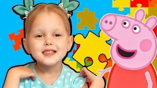 Свинка Пеппа Распаковка набора Игрушка-пазл Вилла объемная Строим виллу для семьи Свинки Пеппы