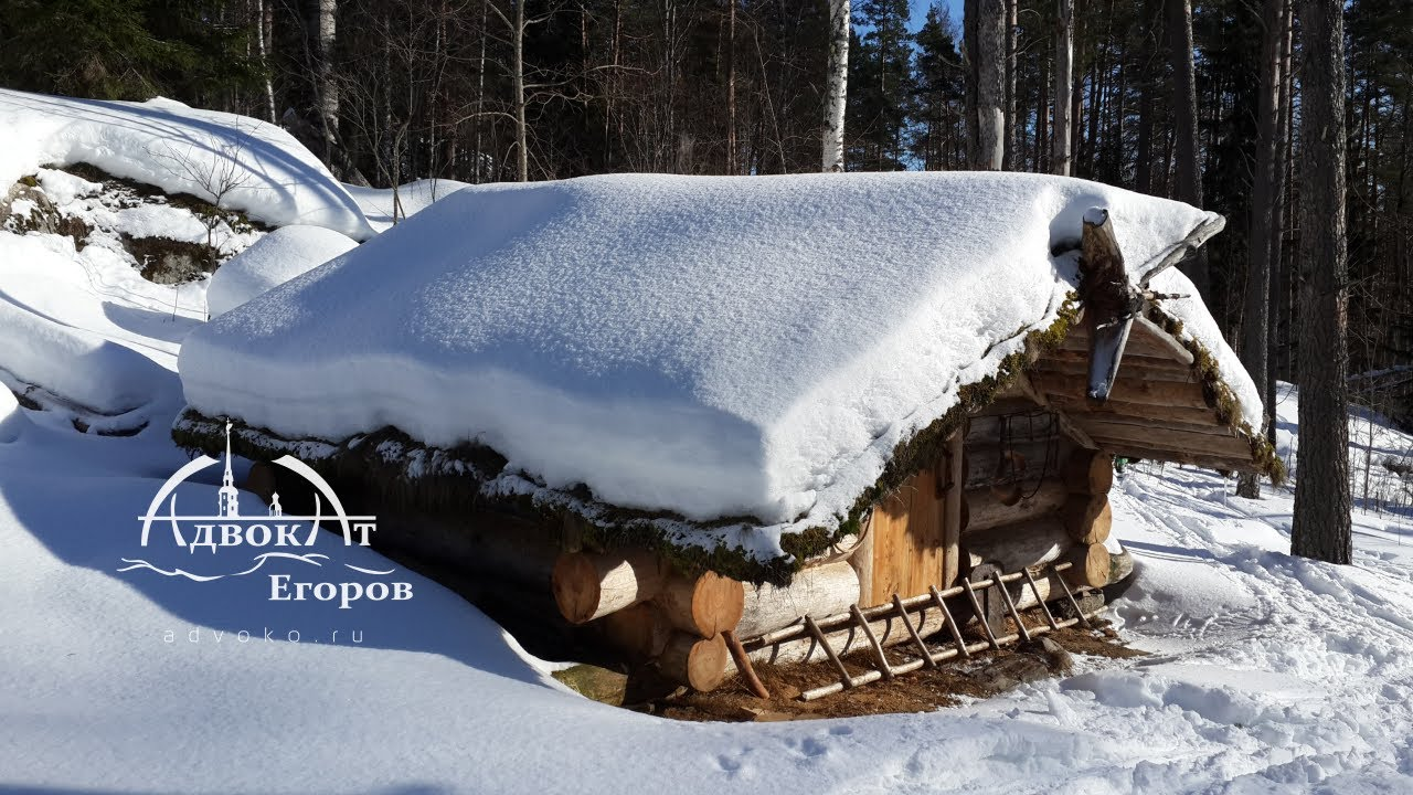 My Log Cabin in the Winter / -17C Winter Camping