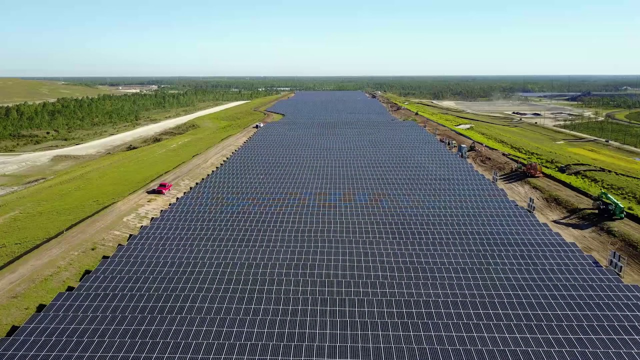 Aerial View of OUC Solar Farm in East Orange County