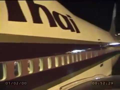 Real air travel with a Thai 747