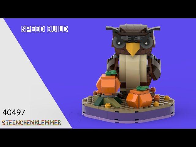 40497 Halloween Eule | Speed Build