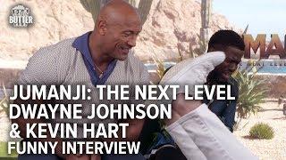 Kevin Hart struggles to say something nice about Dwayne Johnson - FUNNY!!! | Jumanji: The Next Level