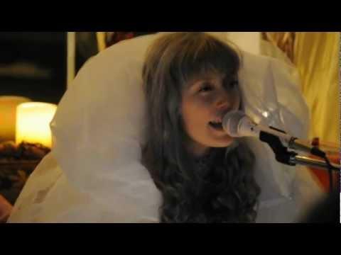 Andrea Estella of Twin Sister singing