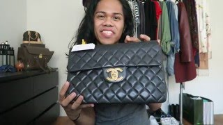 unboxing   holy grail bag vintage chanel jumbo xl or maxi