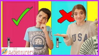 Family Fun Don't Choose The Wrong Mystery Door Challenge / That YouTub3 Family I The Adventurers