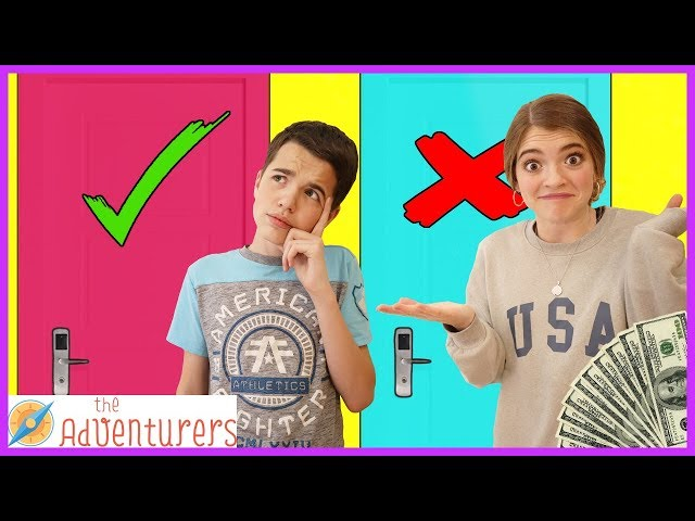 Family Fun Dont Choose The Wrong Mystery Door Challenge / That YouTub3 Family I The Adventurers