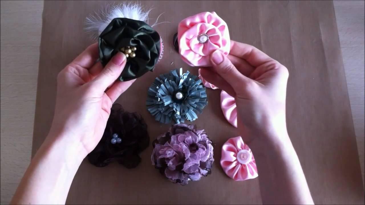 Homemade Flowers Organza Carnation Youtube
