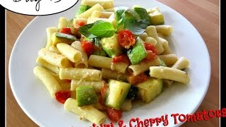 Trying Laura's Pasta With Sauteed Zucchini & Cherry Tomatoes [day 73]
