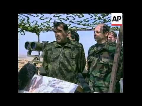 Russian troops at border, Tajik president comments.