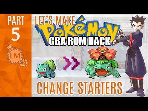How To Make a Pokemon Rom Hack GBA Part 5 ⚙ Changing Your Starter Pokemon With Advance Starter