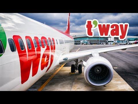 TRIP REPORT | T'way Air | Daegu - Jeju | 티웨이항공 탑승 후기 | ティーウェイ航空 (Tway Airlines) [4K]