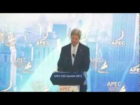 Secretary Kerry Delivers Remarks at the APEC CEO Summit