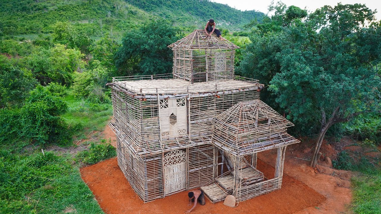Two Poor Men! Build Three-Story House Made Of Bamboo And Wood Near The Mountain [ Part1 ]