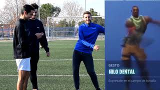 dances of the FORTNITE in LA life REAL in a football challenge | Wallykickers