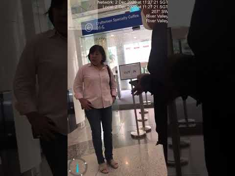 Singapore woman refused to wear a mask and was denied to enter the mall
