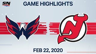 NHL Highlights | Capitals vs. Devils - Feb. 22, 2020