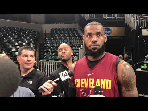 LeBron James doesn't like a question about his legacy and possible first-round loss to Pacers