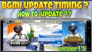 PUBG MOBILE 1.5 UPDATE TIME   BATTLEGROUNDS MOBILE INDIA NEW UPDATE   HOW TO DOWNLOAD PUBG MOBILE1.5