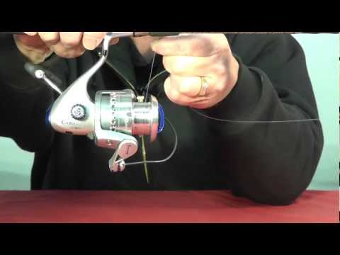 How to put line on a spinning reel funnycat tv for Tying fishing line to reel