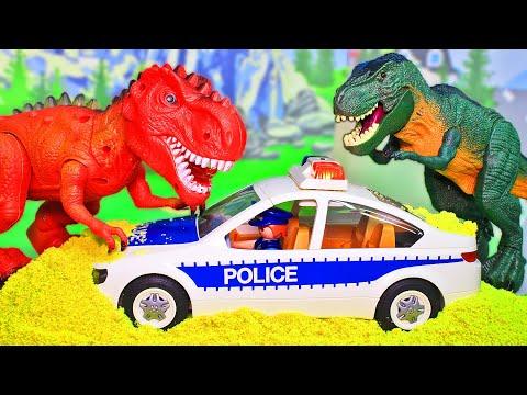 Мультики про полицию и про динозавров. Мультфильмы с игрушками Playmobil для детей 2020. Сборник!