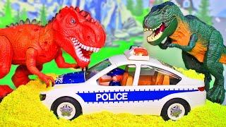 Мультики про полицию и про динозавров Мультфильмы с игрушками Playmobil для детей 2020 Сборник