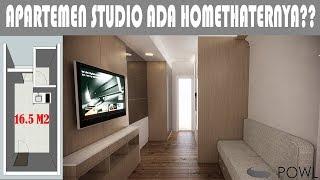 Interior Desain Apartemen Studio Minimalis Furniture