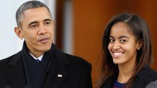 Barack and Malia Obama Enjoy Father-Daughter Date Night!
