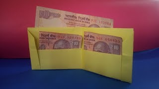 DIY || How to make a paper wallet || Easy Origami wallet