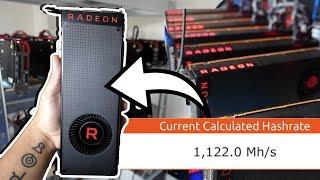 1 GIGAHASH AMD VEGA MINING SETUP (40 Graphics Cards! 1GH/s 5500w)