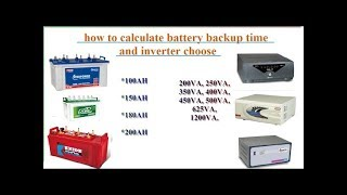 How to calculate battery backup time and choose an inverter