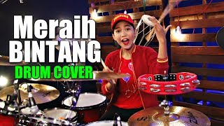 meraih bintang via vallen drum cover by nur amira syahira