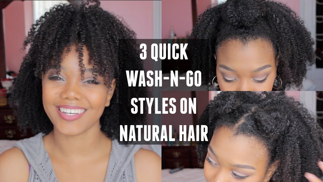natural hair wash and go styles 3 wash and go styles on hair 1276 | maxresdefault