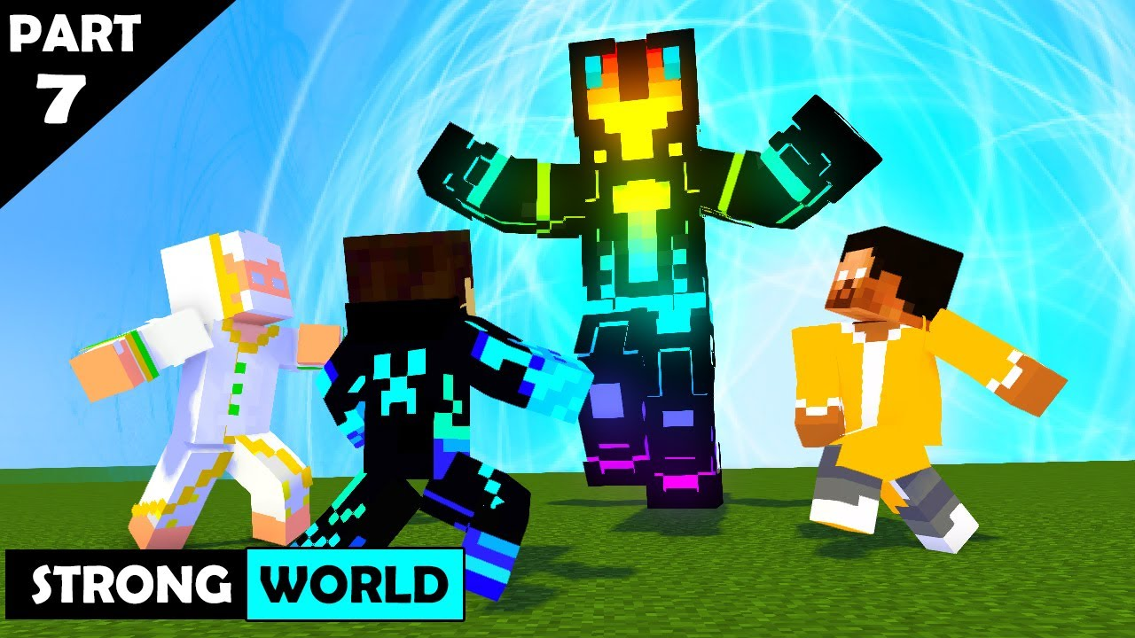 Download SEASON 6 PART 7 STRONG WORLD : JUST IN TIME MECHANICZ : MONSTER SCHOOL HEROBRINE BROTHERS