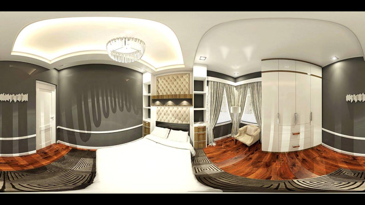 360 Video Interior Design: Family Room & Bedroom 2 - YouTube