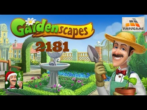 GARDENSCAPES Gameplay - Level 2181 (iOS, Android)