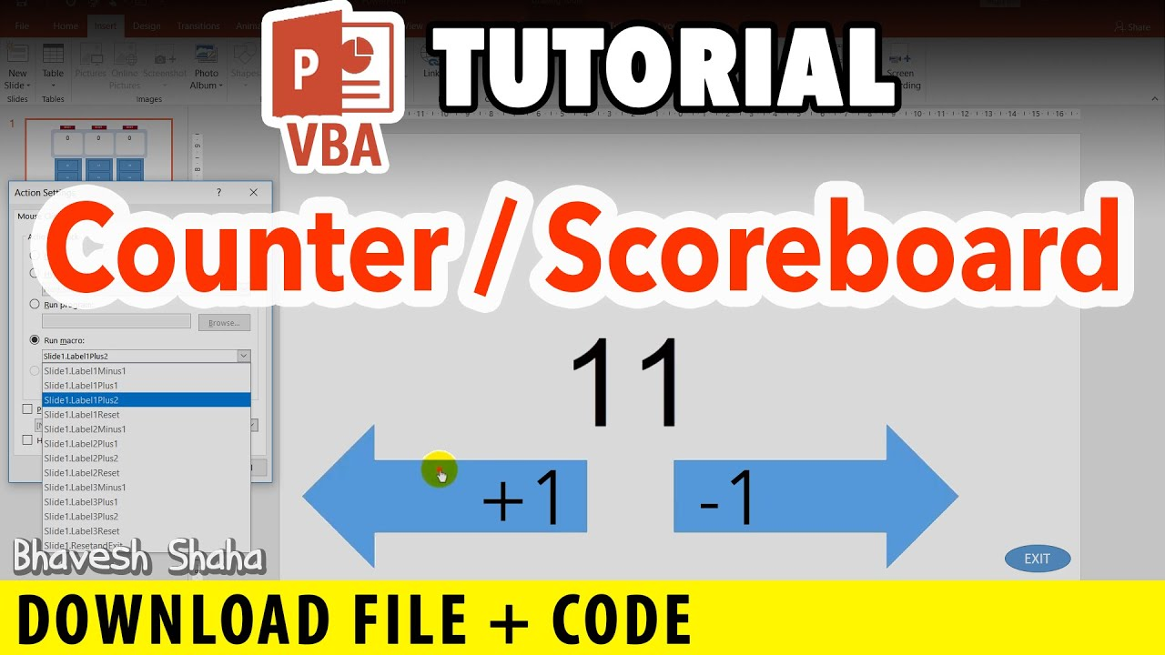 Create a Number Score/Points Counter in PowerPoint [PPT VBA Tutorial]